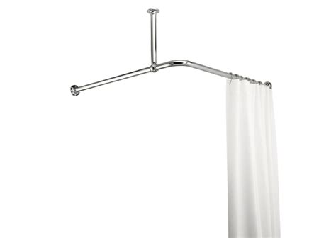Croydex L Shaped Shower Curtain Rail Support Chrome Effect 2000mm Anti Mildew Shower Curtain Liners From Target Terracotta Blackout Eyelet Curtains Simple Window Ideas For Living Room Luxury Less Ceiling Mounted Bay Pole How To Install Fabric Tie Backs Where Attach Rods Drywall