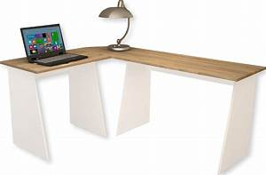 Bureau D Angle But : bureau d angle bois bureau blanc tiroir eyebuy ~ Teatrodelosmanantiales.com Idées de Décoration