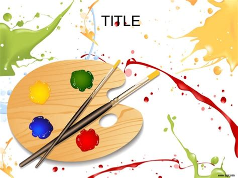 painting template colorful paint powerpoint presentation template