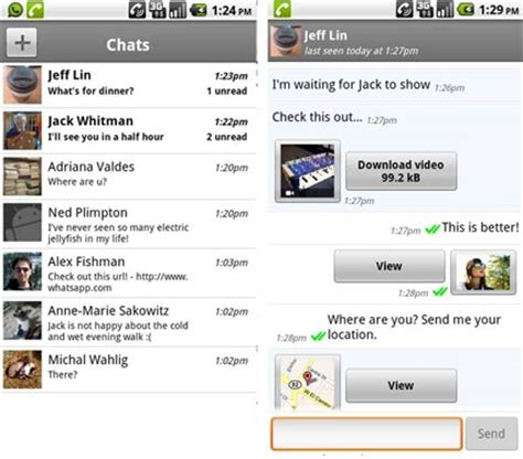 whatsapp for android now with chat just