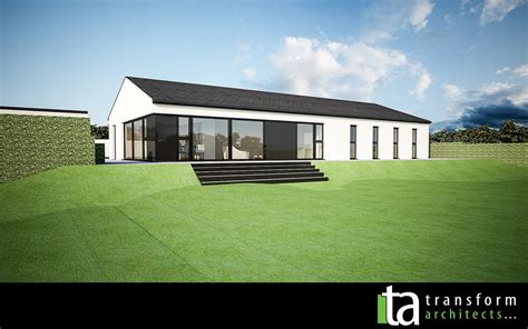 Moderner Bungalow by White Rendered Modern Bungalow Rear House Exterior