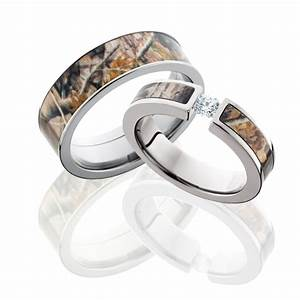 best camo wedding rings for him and her With wedding rings for him