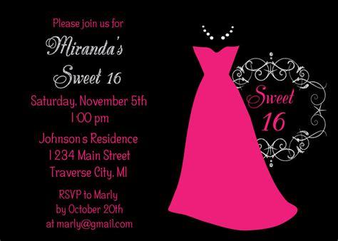 dress sweet  birthday invitation sweet sixteen