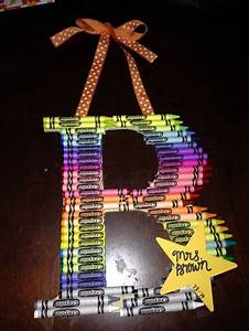 letter b hanging crayon letter perfect teacher With letter b gifts