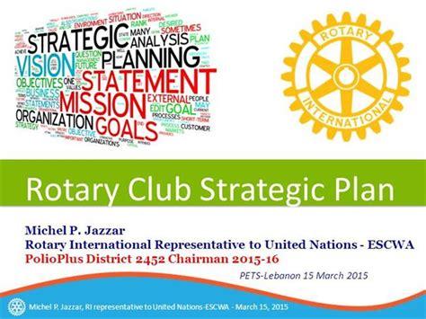 strategic plan  rotary clubs  authorstream