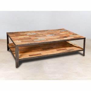 Table Basse Rectangulaire Bois : table basse en bois massif pas cher pour salon pier import ~ Teatrodelosmanantiales.com Idées de Décoration