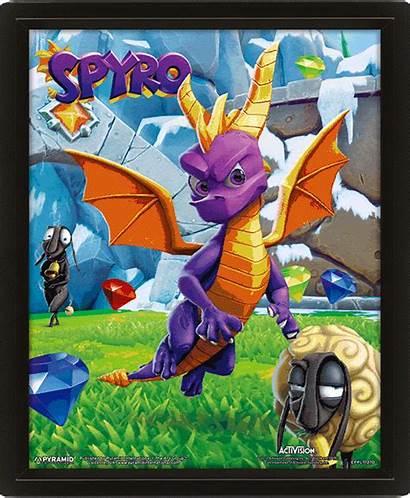 Spyro Poster Lenticular 3d Play