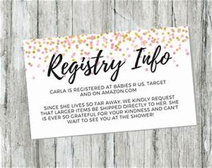 Registry card etsy for Walmart registry wedding gifts