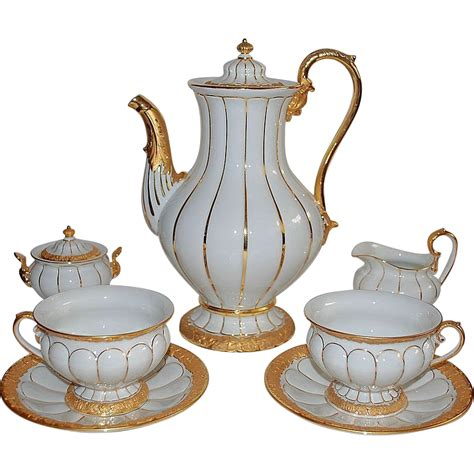 cofee set meissen coffee set for 12 tea service from raritetantique