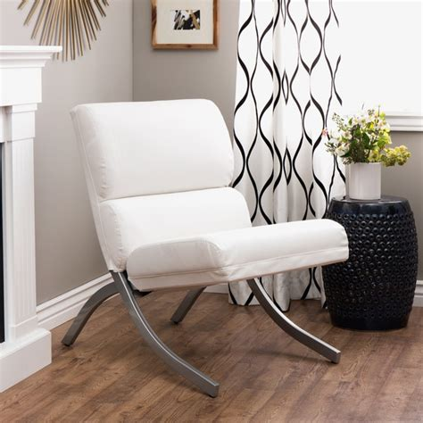 rialto bonded leather white chair free shipping today