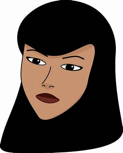 Head Woman Covered Clip Clipart Vector Clker