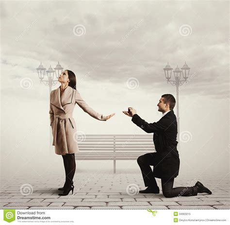 handsome man making proposal  marriage stock image
