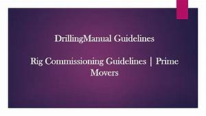 Rig Inspection Guidelines
