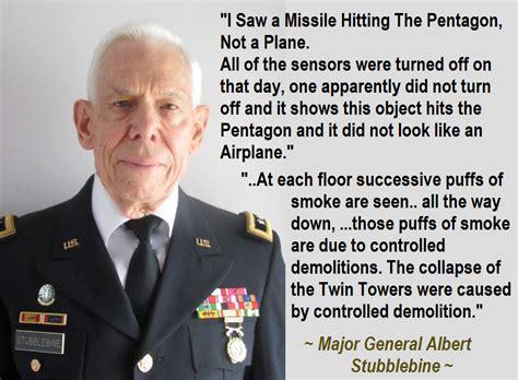 truth missile hit pentagon major general albert