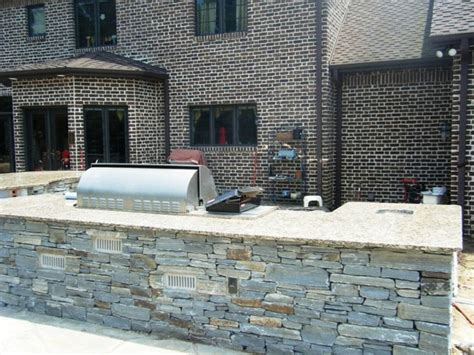 outdoor kitchens with granite traditional patio
