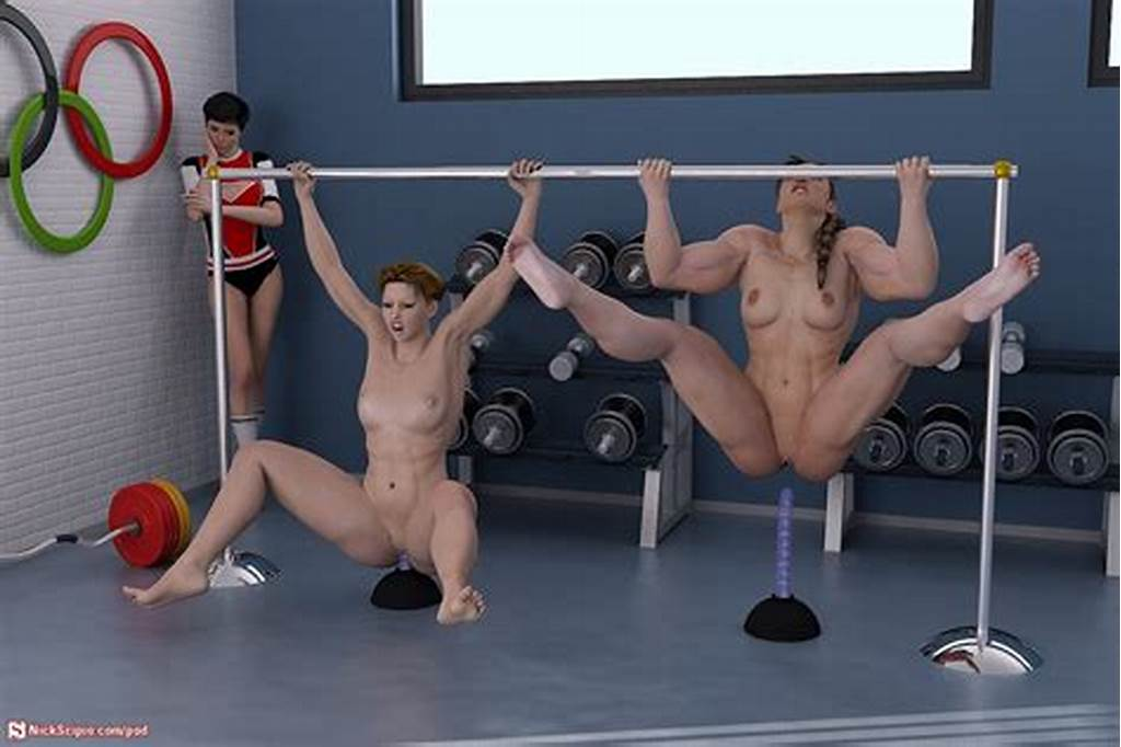 #Cgi #Muscle #Girls #Doing #Dildo #Pullups