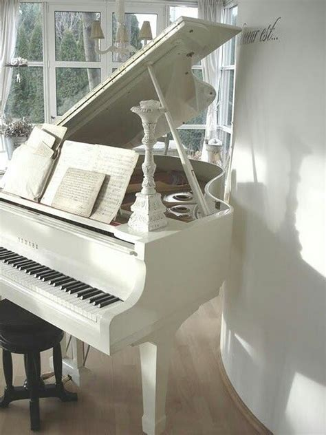beautiful rooms and white piano on