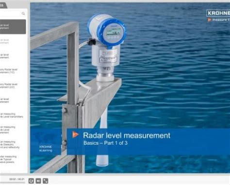 radar level measurement elearning