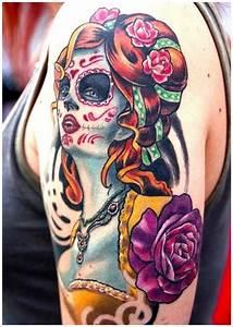 Girly Sugar Skull Design 51 Ultimate Sugar Skull Tattoos Amazing Ideas