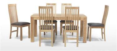 Oak Dining Table Chairs by Cube Oak 160 Cm Dining Table And 6 Chairs Quercus Living