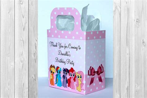 personalised   pony party bags personalised invite