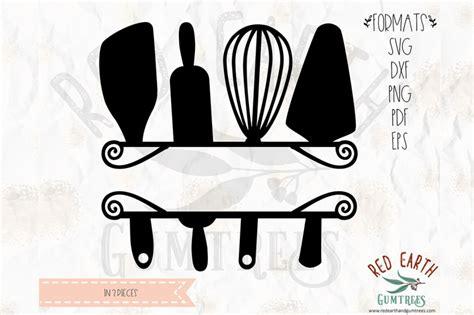 baking split monogram frame decal svg png eps dxf  formats  svgbrewerydesigns