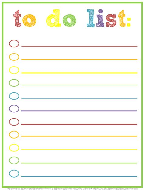 todo checklist 3 free printable to do lists to jumpstart your