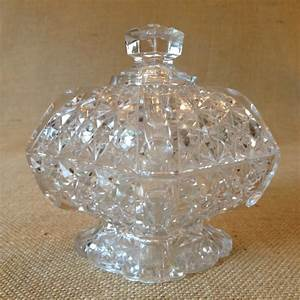 Antique Daisy and Button Lidded Candy Dish - Unique Goods