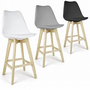 Fauteuil Assise Haute : molde lot de 2 tabourets de bar chaises style scandinave ~ Teatrodelosmanantiales.com Idées de Décoration