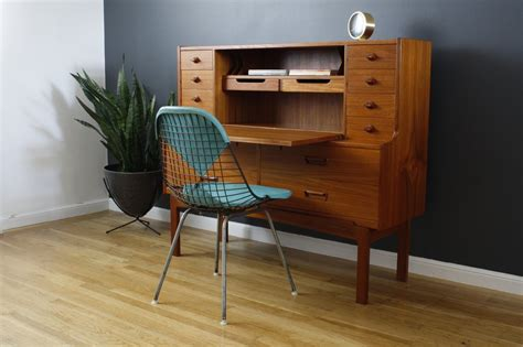 mid century secretary desk mid century secretary desk fits office with elegant hunter