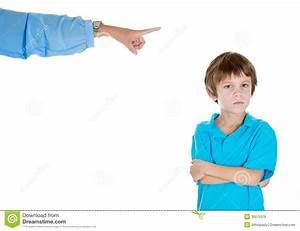 Parent Pointing At A Disobedient Child Stock Photo - Image ...