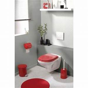 Deco Wc Gris : deco toilettes gris et rouge ~ Melissatoandfro.com Idées de Décoration