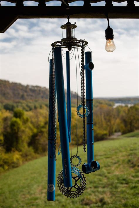 Friend turned my broken Salsa frame into a wind chime ...