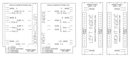 Kitchen Cabinets Templates  Feed Kitchens