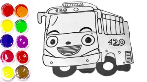 coloring pages tayo  bus coloring page learn colors