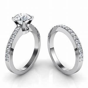novo round brilliant diamond engagement ring matching With matching wedding ring sets
