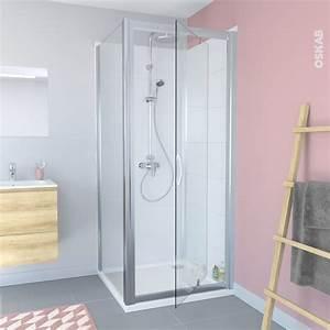 Porte Douche 90 : porte de douche pivotante olympe 90 cm verre transparent oskab ~ Nature-et-papiers.com Idées de Décoration