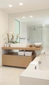 salle de bain deco scandinave en blanc et bois With salle de bain epuree