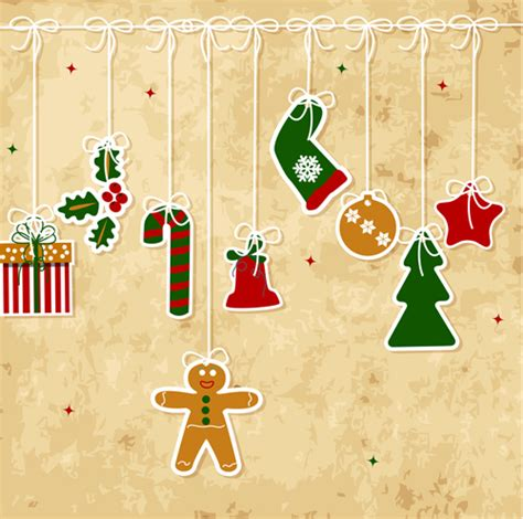 of vintage merry christmas cards vector graphics 04 free download