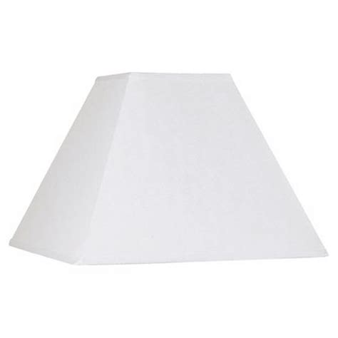 white square l shade white linen square l shade 7x17x13 spider k9554