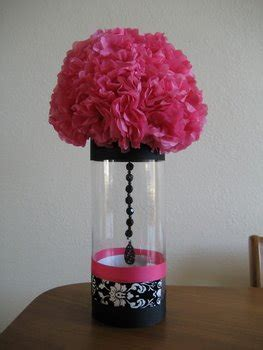 pink centerpiece idea celebrations  home