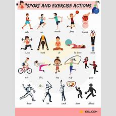 Sport And Exercise Actions Vocabulary In English  7 E S L