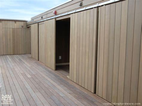 barn door installations contemporary patio other