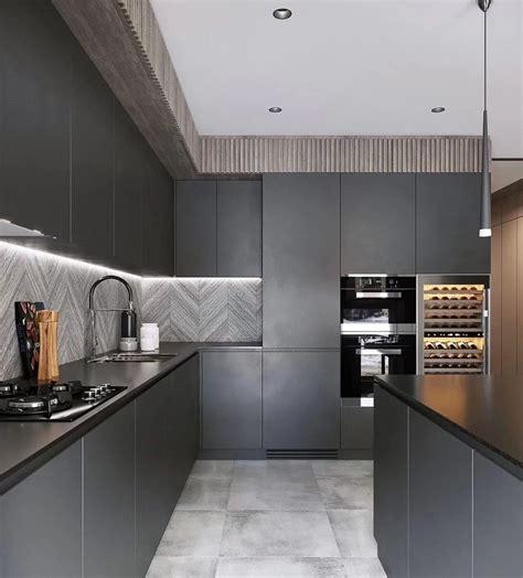 modular black melamine kitchen cabinets modern picture