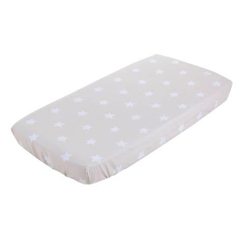 drap housse pour berceau drap housse berceau 40 x 80 cm beige with white 1286 ld achat vente linge de lit sur