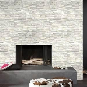 papier peint intisse brique marbre blanc leroy merlin With conseil pour peindre un mur 7 installer un eclairage en corniche