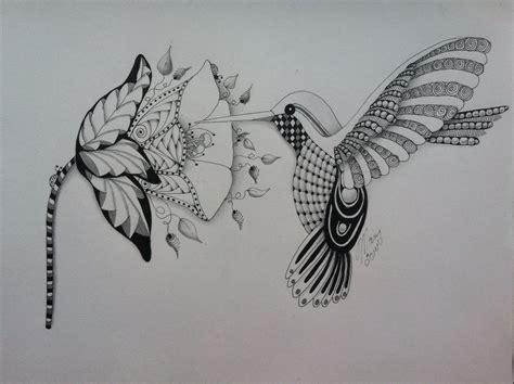 hummingbird zentangle zentangle zentangle drawings