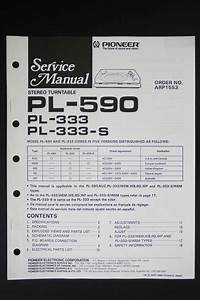 Pioneer Pl S Original Stereo Turntable Service Manual  Diagram O116