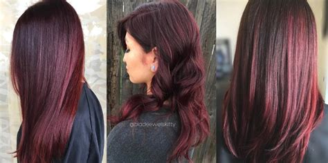 Vivid Burgundy Hair Color For Women's 2018