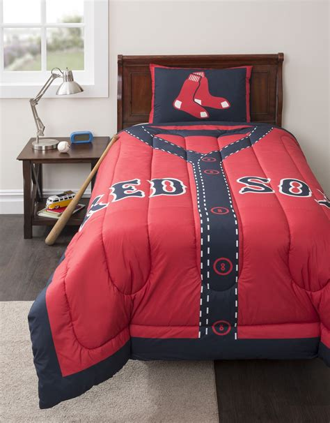 mlb boston red sox twin comforter set baseball jersey bed